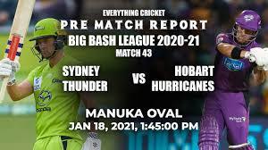 Sydney Thunder vs Hobart Hurricanes ...