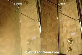 best way to clean shower doors hard water stains on shower doors cleaning glass shower doors
