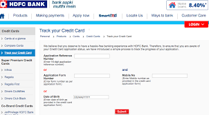 go to hdfc bank s track your credit card page