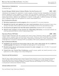 Template Sample Of Military To Civilian Resume Best Template Wor
