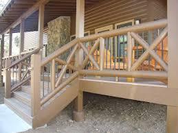 image of amazing wood deck railing ideas design