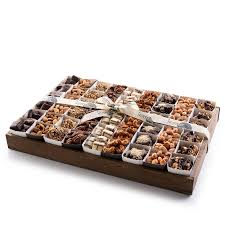 gourmet chocolate nut gift tray with individual party cups large size tray