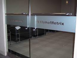 office glass frosting. Alphametrix-glass-door-vinyl. Alpha Metrix - Etched Vinyl Window Band. 1 Photo Band Office Glass Frosting I