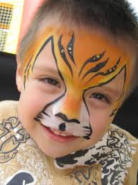 image of kids tiger face paint
