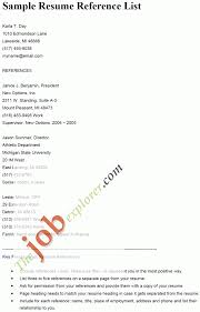 Cover Letter Sample Reference List For Resume Sample Phone