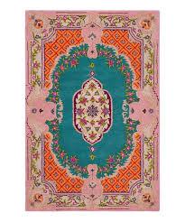 blue pink damask bellagio rug