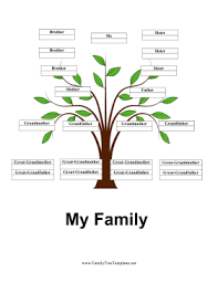 Blank Family Tree 4 Generations 4 Generation Family Tree With Siblings Template