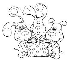 Small Picture Beautiful Blues Clues Coloring Pages 42 In Picture Coloring Page