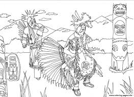 Print Adult Native Americans Indians Danse