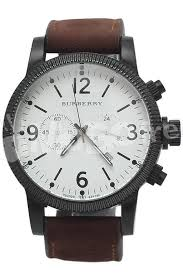 burberry brown leather watches jewelry accessories burberry brown leather chronograph men watch watches jewelry accessories for at all