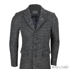 new mens vintage grey tweed 3 4 long