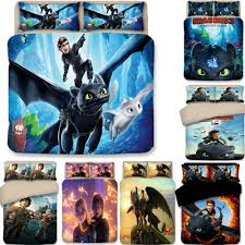 how to train your dragon quilt cover bedding set 3pc twin full queen king size