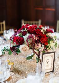 elegant marsala and gold wedding centerpieces for fall