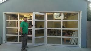 super duper garage door with door glass garage doors with passing door full view aluminum