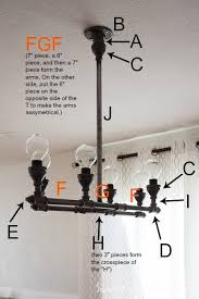 diy pipe lighting. diy chandelier diagram made with pipe fittings lighting i