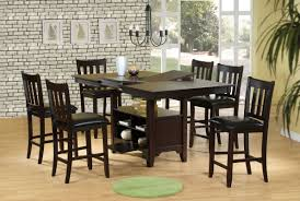 height of dining room table. dining room : dark brown furniture of counter height sets with rectangular foldable table and small drawer below the in industrial