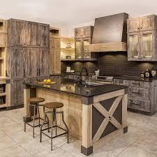 cuisines beauregard chic rustic kitchen in egger melamine with quartz countertop