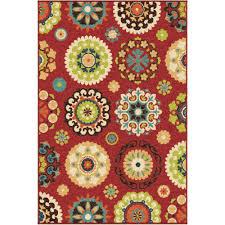 salsalito red 4 ft x 5 ft indoor outdoor area rug