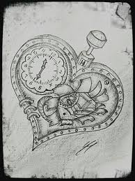 Broken steampunk heart. #drawing #steampunk #brokenheart More