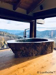 river stone bathtub natural stone bathtubs
