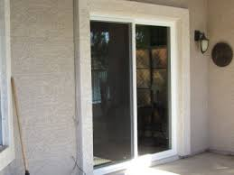 after new white vinyl patio doors