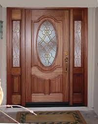 entry prehung oval glass single wood