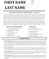 Construction Superintendent Resume Templates Classy Construction Superintendent Resume Templates Construction