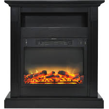 cambridge sienna 34 electric fireplace mantel heater with enhanced log and grate display com