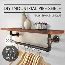 Diy Industrial Coat Rack Awesome Urban Industrial Style Wall Mount Floating Pipe Shelf Bathing Room