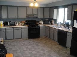 Creative of Modern Kitchen With Black Appliances Gray Kitchen ...