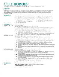 003 Resume Template For Teachers Elementary Teacher Example Striking