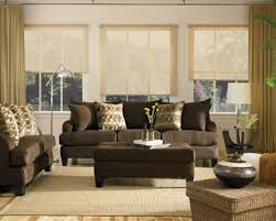 brown platic blind windows curtain cozy living room ideas for apartments glass top coffee table lux brown sofa unique table decor