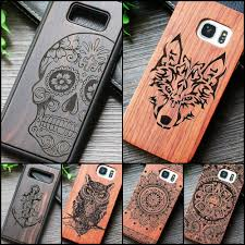 indian tribal wolf skull wood phone case for samsung galaxy note 8 9 s7 edge dragon flower wooden galaxy s8 s9 plus cases cover