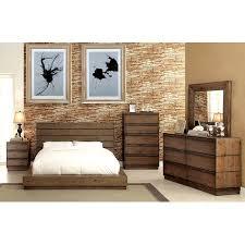 Modern Low Profile Bedframe California King Size Bed Dresser Mirror ...