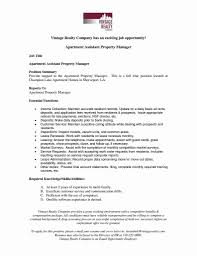 Apartment Property Manager Resume Property Manager Contract Sample