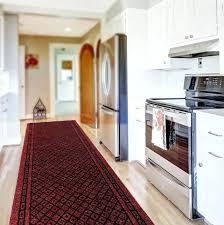 kitchen rug runner red oriental in for