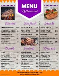 Restaurant Menu Design Templates Design Restaurant Menus With Free Templates Postermywall