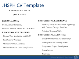 The Curriculum Vitae Handbook Inspiration Resumes And CVs For MPH Students Fall 48