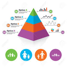 Pyramid Chart Template Large Family With Children Icon Parents