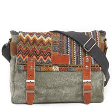<b>Vintage Ethnic</b> Canvas Messenger Bag <b>Women</b> Chinese Style ...