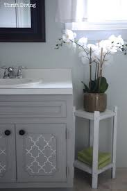 how to paint a bathroom vanity diy makeover thrift diving blog regarding refinish bathroom