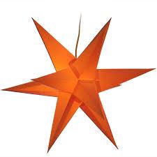 Zwickauer Adventsstern Einzeln Papier Beleuchtet Orange