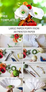 Make A Paper Poppy Flower Large Paper Poppy Flower Free Tutorial And Template