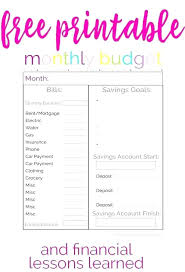 Monthly Bill Planner Template