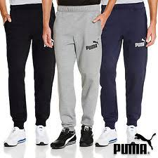 puma mens tracksuit. puma mens logo fleece pants tracksuit bottoms sports sweat gym joggers s m l xl e