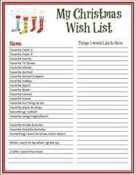 Blank Christmas List 9 Best Christmas List Printable Images Christmas List