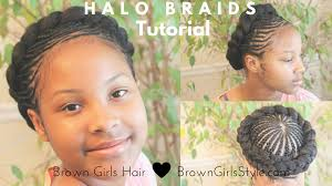 Braids For Little Black Girl Hair Style halo braid tutorial natural hair kids youtube 7100 by wearticles.com
