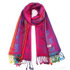 Designer Shawls And Wraps Vibrant Spectrum Pashmina Scarf Pashmina Scarf Shawls