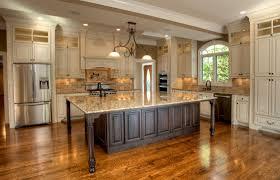 dark wood floor kitchen. Dark Wood Floors With Light Cabinets Create A Cart White Kitchen Black Granite Top Floor