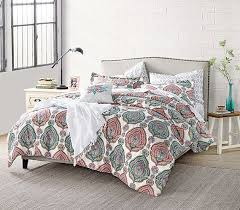 Patterned multi color college forter extra long twin dorm bedding